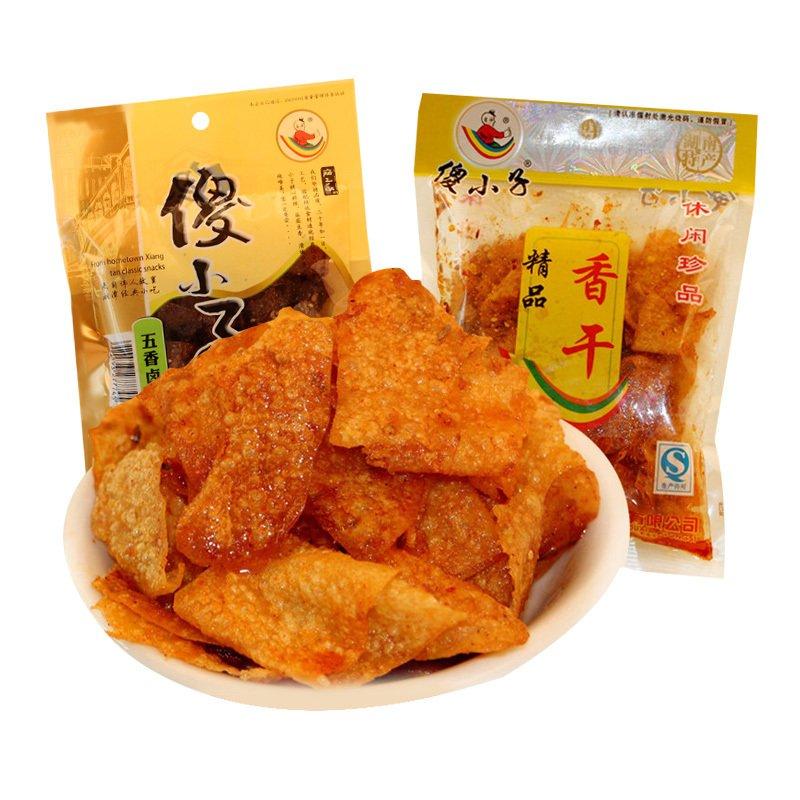 湖南湘潭特产香辣味小吃零食 60g*10大包傻小子麻辣香干辣条
