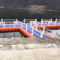 塑料浮筒码头水上亲子水平台浮桥栈道摩托车泊位白色立柱加厚浮箱