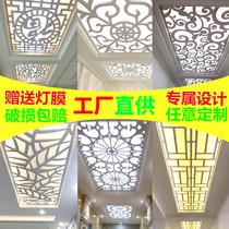 雕花板鏤空隔斷吊頂花格板材中式雕花屏風通花板裝飾pvc玄關花