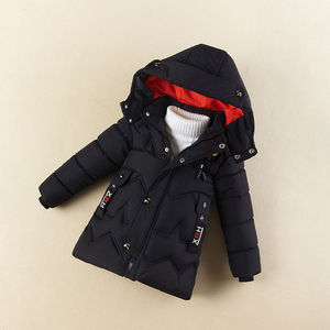 Children's cotton coat 2019 new children's clothing winter boys' down jackets thickened padded jacket handsome children's jacket mid-length
