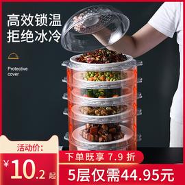 保温盖菜罩家用折叠防尘多功能剩菜剩饭神器透明多层饭菜餐桌罩子
