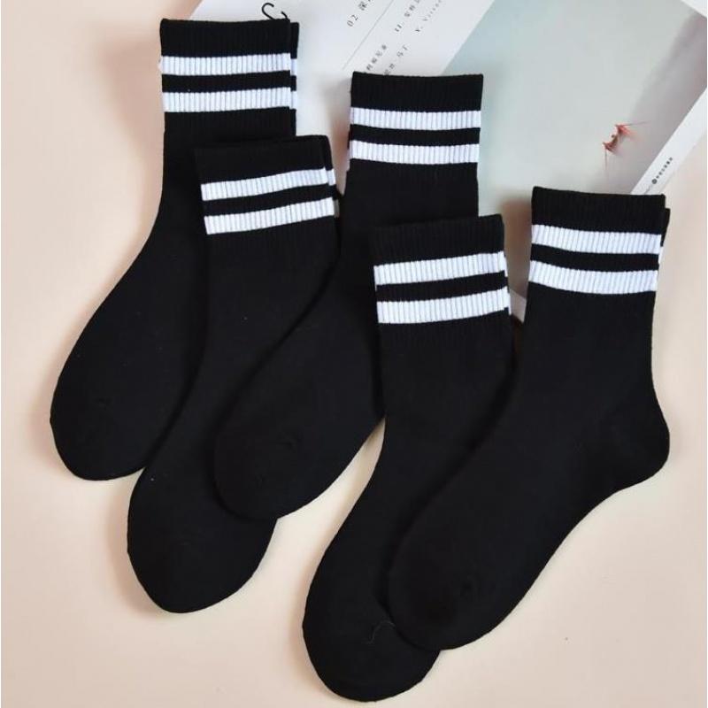 配马丁靴袜子女黑色中筒袜纯棉韩版学院风日系女袜子皮鞋的袜子满22元减2元