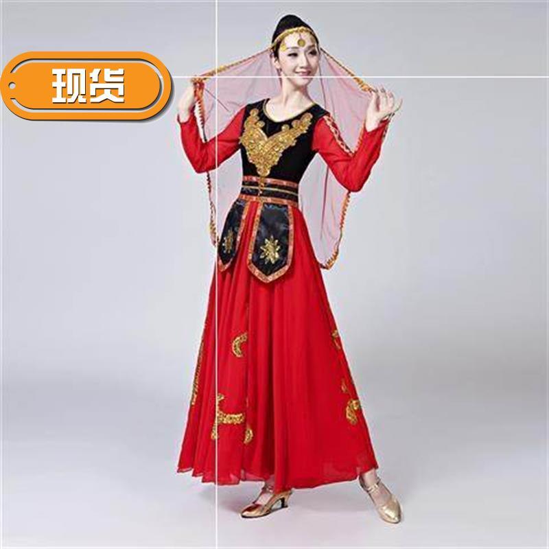 2019表演新年少数民族舞台服维吾族l舞蹈演出服女服装新疆服饰现