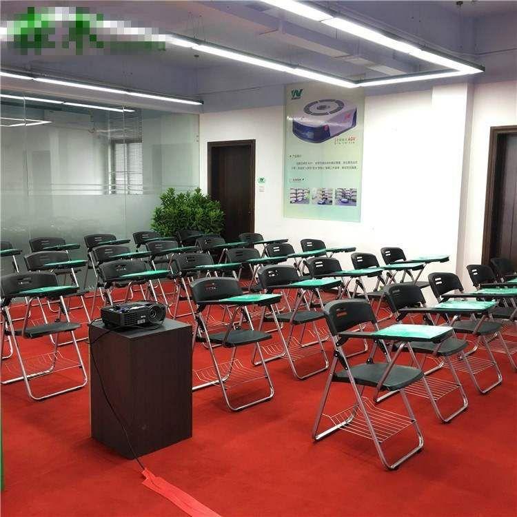 者椅子会议室办公桌椅折叠培训椅培训椅新增带写字板一体式