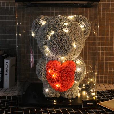 永生花玫瑰小熊七夕情人节礼物生日送女友老婆小熊礼盒玫瑰花熊满100元减5元