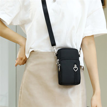 2021手机包女斜挎迷cm8(小)包包夏nk布袋竖挂脖便携手腕零钱包