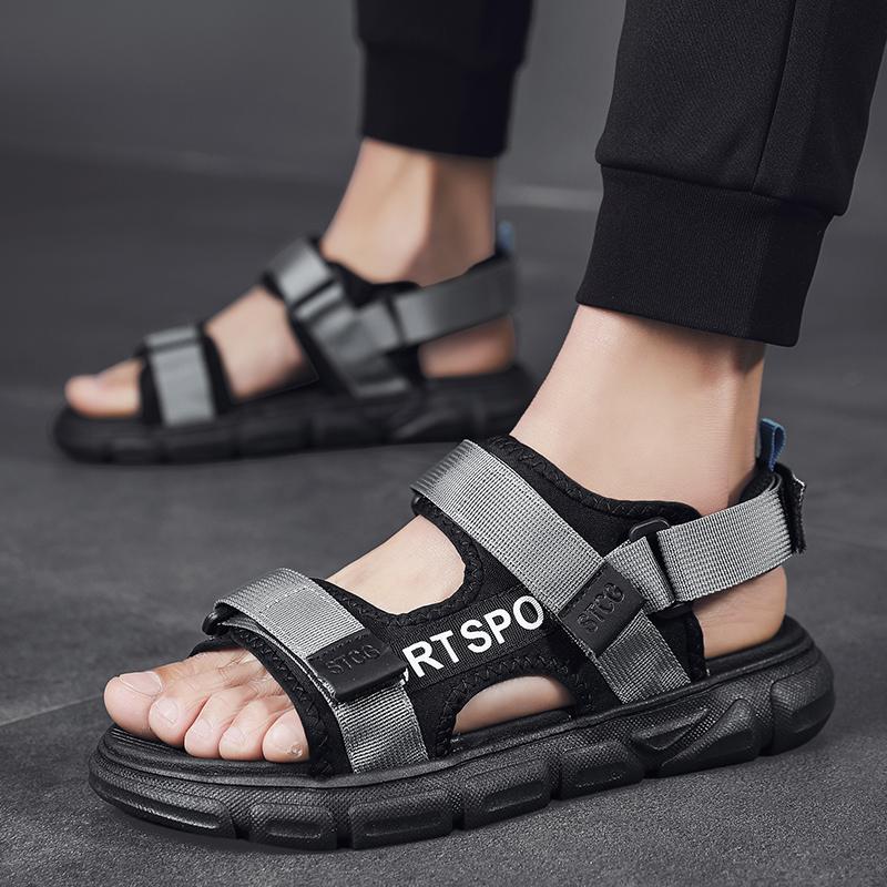 轻便潮流百搭2020夏季新款凉鞋男休闲舒适沙滩鞋室外两用凉拖鞋男