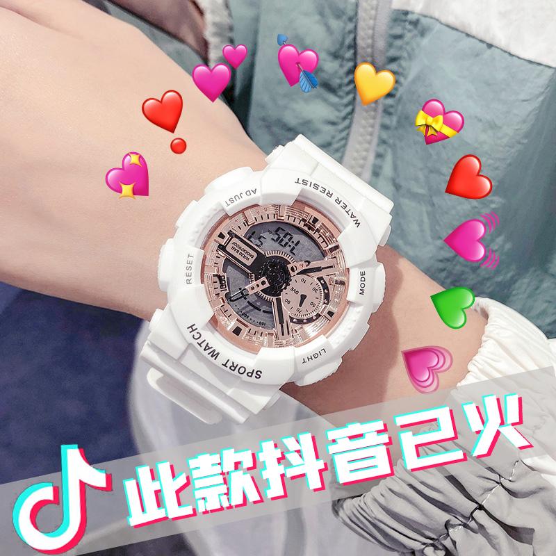 杨紫同款手表女ins风独角兽电子表初中学生简约气质运动防水夜光