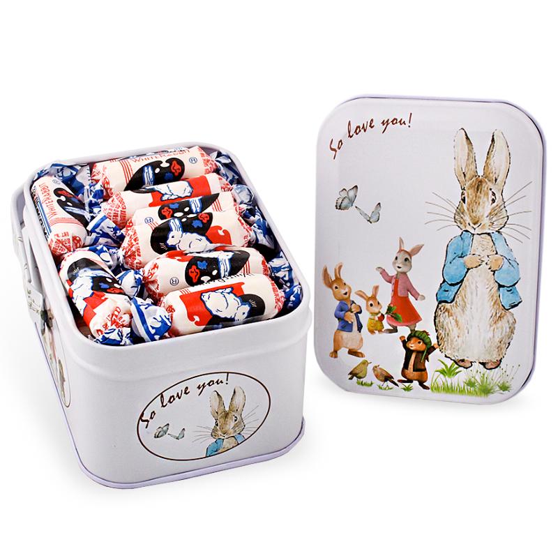 大白兔奶糖礼盒装铁盒散装零食糖果袋装圣诞万圣节生日礼物送女友