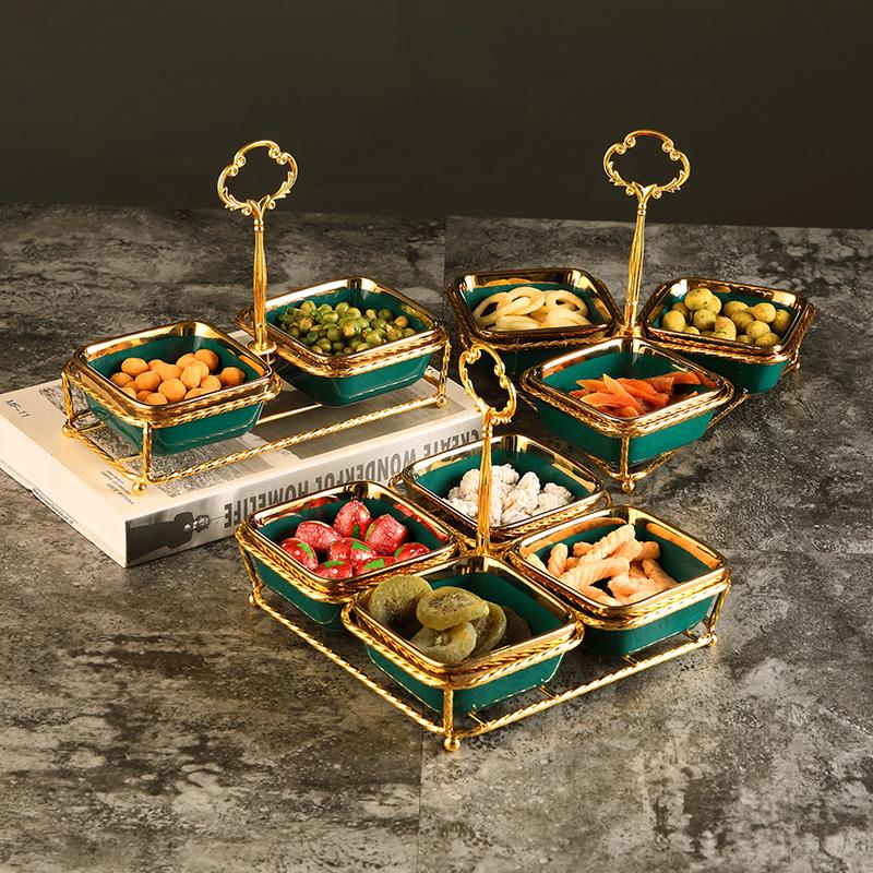 北欧式水果拼盘分格盘坚果零食盘干果盘ktv 甜品茶点盘水果盘吃碟