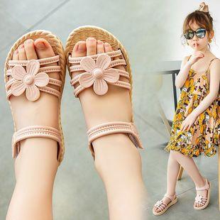 女童凉鞋新款夏季儿童防滑沙滩凉鞋中大童软底防滑小孩公主鞋凉鞋图片