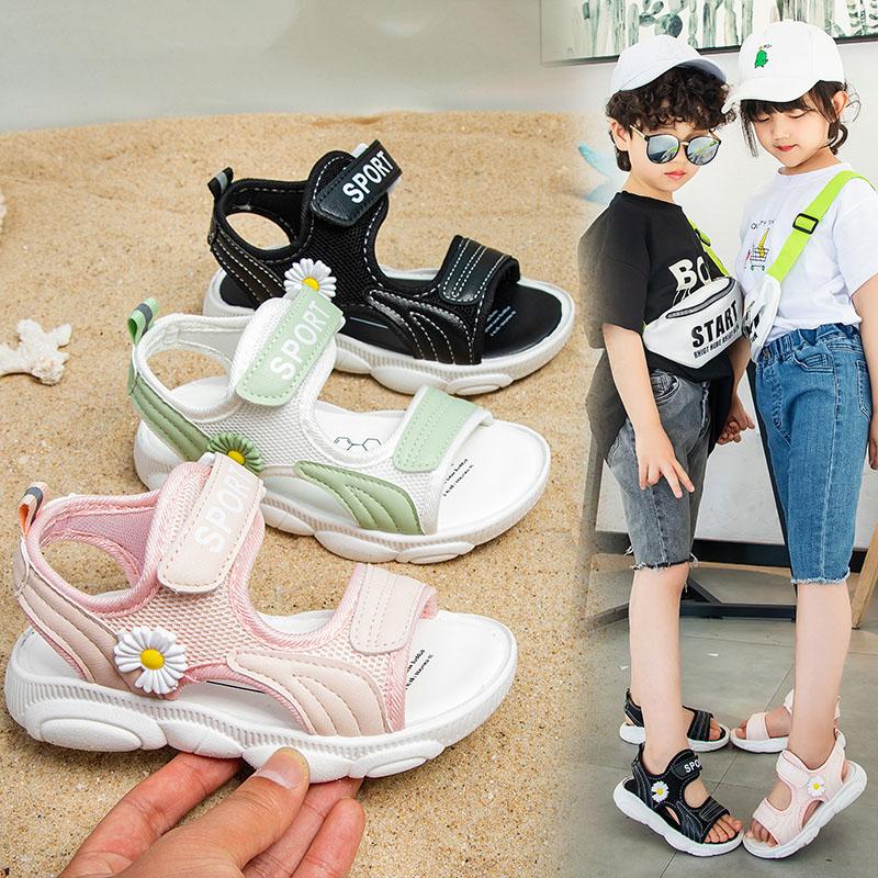小雏菊女童凉鞋儿童凉鞋女夏季新款中童大小童防滑软底男童沙滩鞋