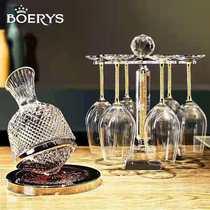 欧式轻奢不倒翁旋转陀螺红酒醒酒器无铅红酒杯套装家用高脚杯酒具