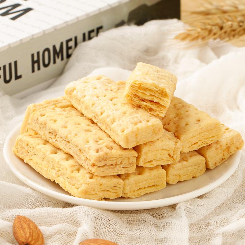 美食兔 黄金蛋黄酥早餐零食代餐饼干传统糕点网红咸蛋黄酥240g