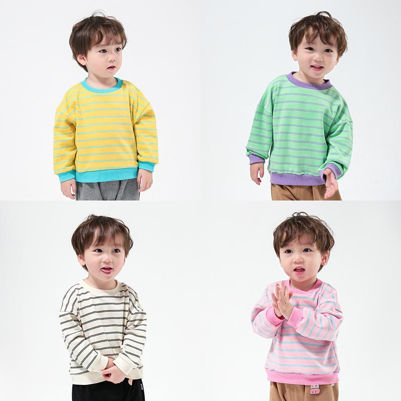 儿童卫衣男童潮牌洋气春秋装女童打底衫长袖棉圆领中大童宝宝T恤