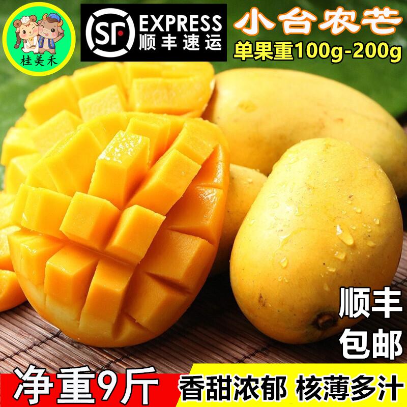 桂美禾 广西百色小台农芒果包邮应季水果热带新鲜现摘现发鸡蛋芒