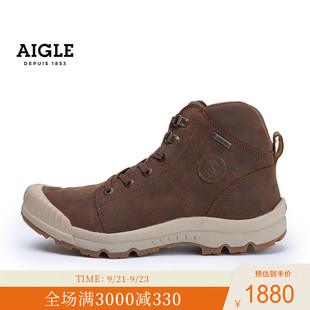 法国AIGLE艾高TENERE LLG男款GORE-TEX防水透汽高帮橡鞋防污防滑