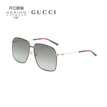 开云眼镜 古驰GUCCI双G太阳镜防紫外线方框时尚金属墨镜GG0394S