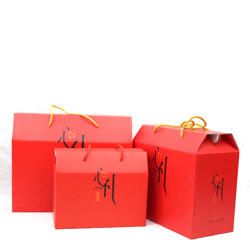厂家直销礼品包装盒年货礼盒熟食海鲜土特产干果红枣空盒定制加印