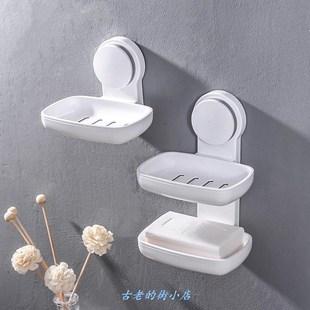 肥皂盒多格一体香皂盒创意沥水韩国卫生间肥皂盒壁挂香皂架免打孔
