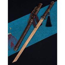 刀剑户外防身唐宅刀o木质单刃长cn12唐剑硬rt收藏未开刃
