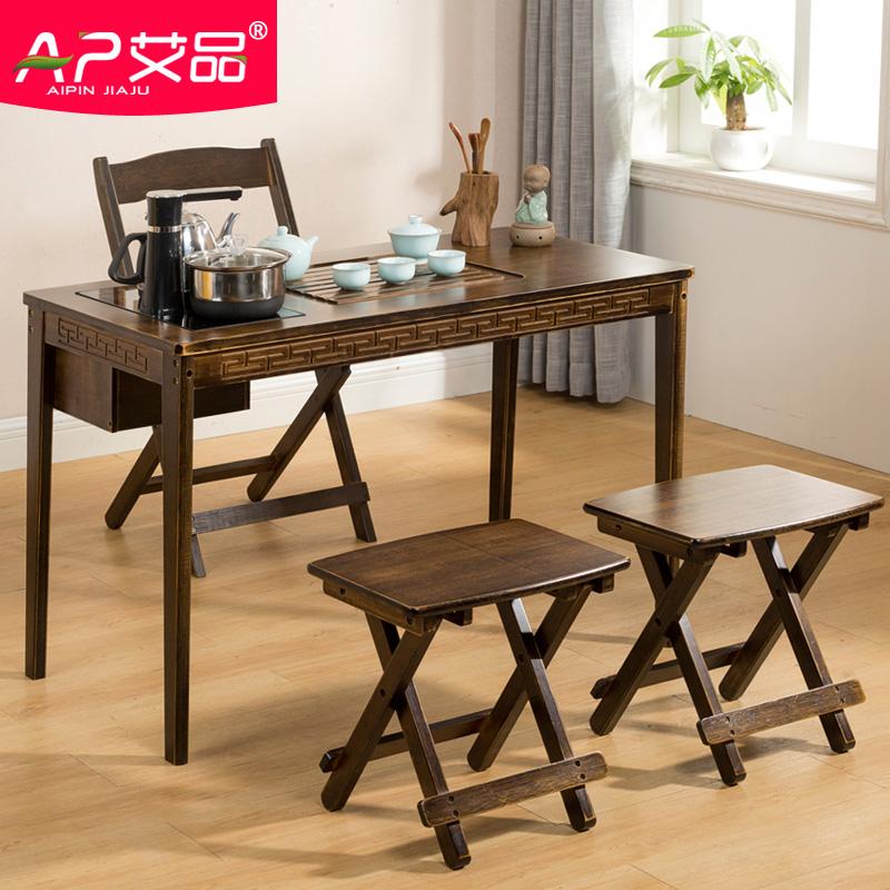 茶桌椅组合新中式小茶台功夫茶桌实木客厅茶几阳台喝茶家用泡茶桌