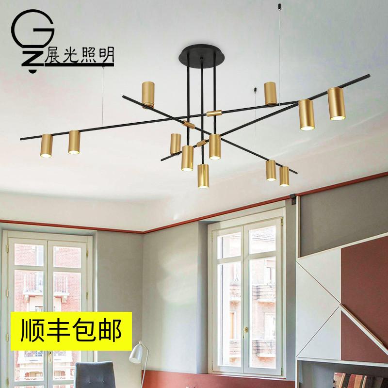 北欧风格大气家用客厅灯具现代简约灯led设计师极简创意个性吊灯_展光照明