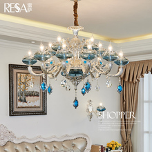 Resa European style chandelier living room chandelier bedroom lamp luxury atmosphere restaurant lights Jane European crystal chandeliers household lamps