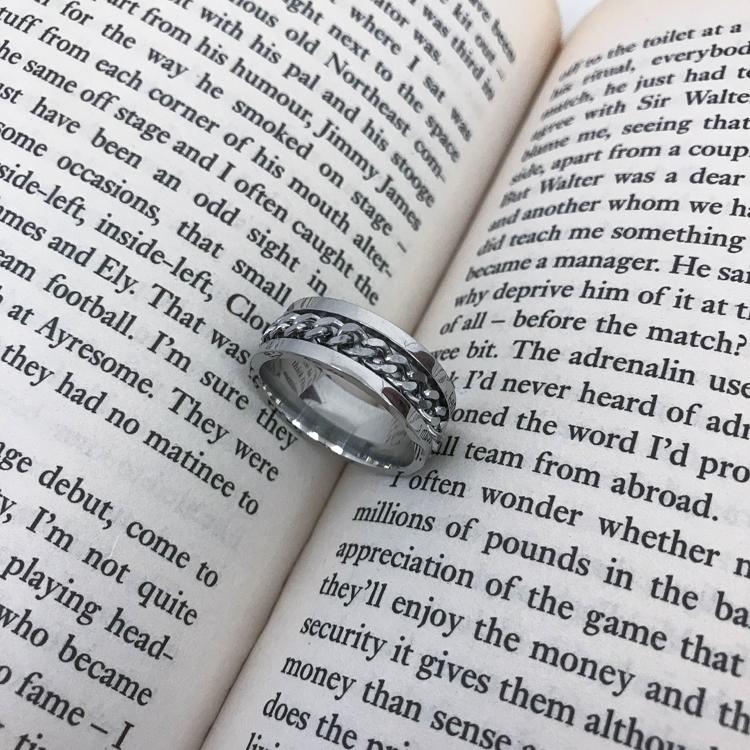 19 STUDIO 韩国东大门ins韩版简约钛钢情侣款饰品链条戒指 男女