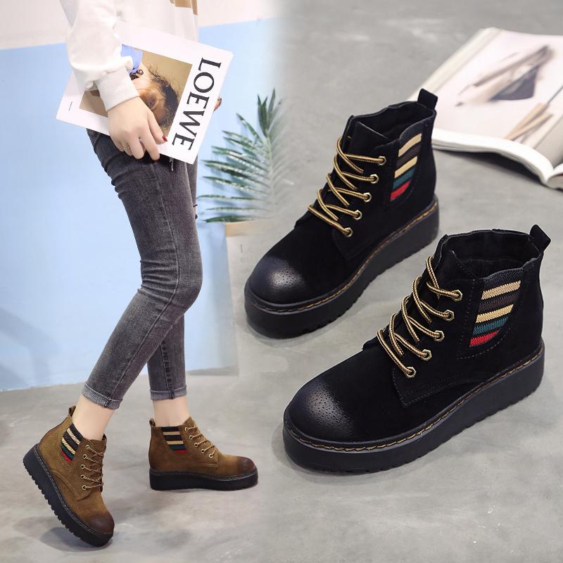 秋鼕軍靴馬丁靴女20