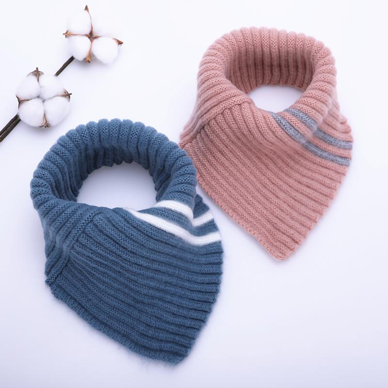 婴儿围巾冬季套脖男童女童三角巾6个月-4岁1秋冬儿童围脖宝宝围巾
