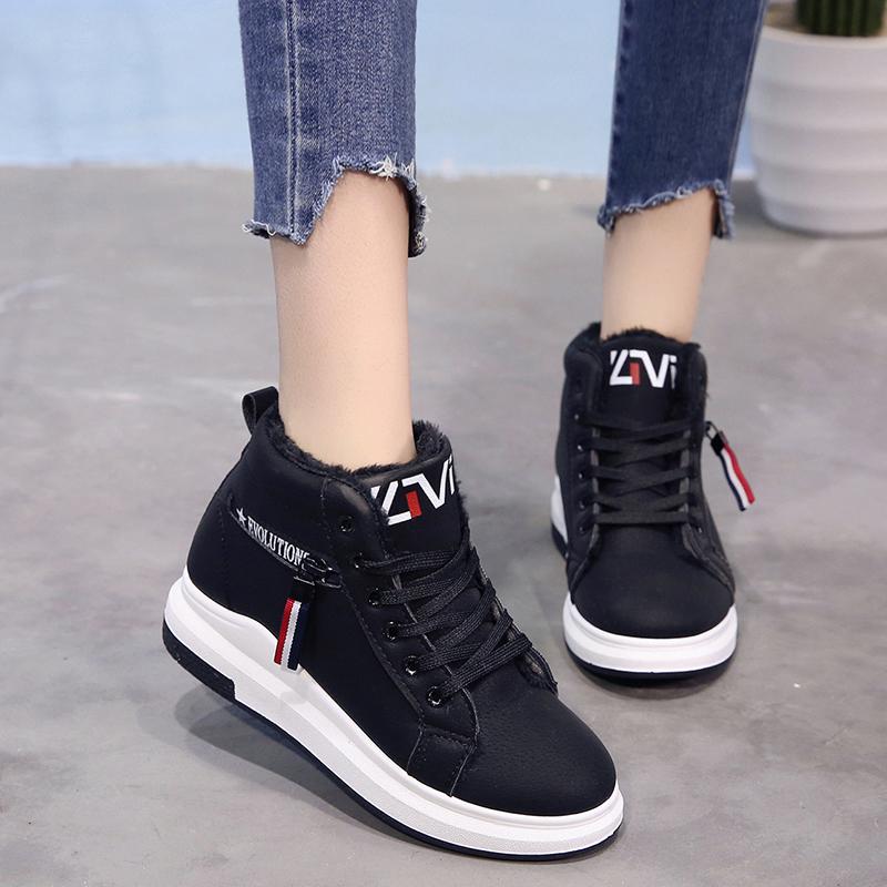 冬季10女童棉鞋加绒加厚12女孩高帮黑色运动鞋中大童保暖冬鞋15岁