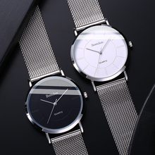 Bunton watch men's ultra-thin quartz watch net red authentic casual students Korean version of the simple trend 2018 new table