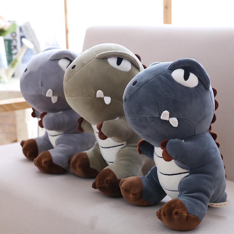 可爱恐龙公仔毛绒玩具娃娃霸王龙暴龙玩偶床上抱枕儿童节生日礼物