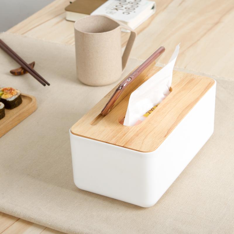 抽纸盒木质纸巾盒创意家用餐巾纸盒客厅茶几车