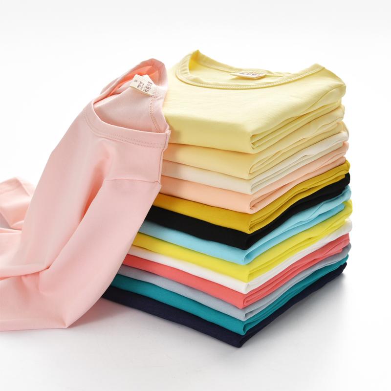 2018春秋款童装儿童纯棉打底衫男女童宝宝圆领睡衣长袖T恤