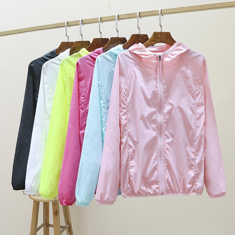 2020夏季新款防晒衣女短款修身薄款透气骑车外套防晒衫开衫防晒服