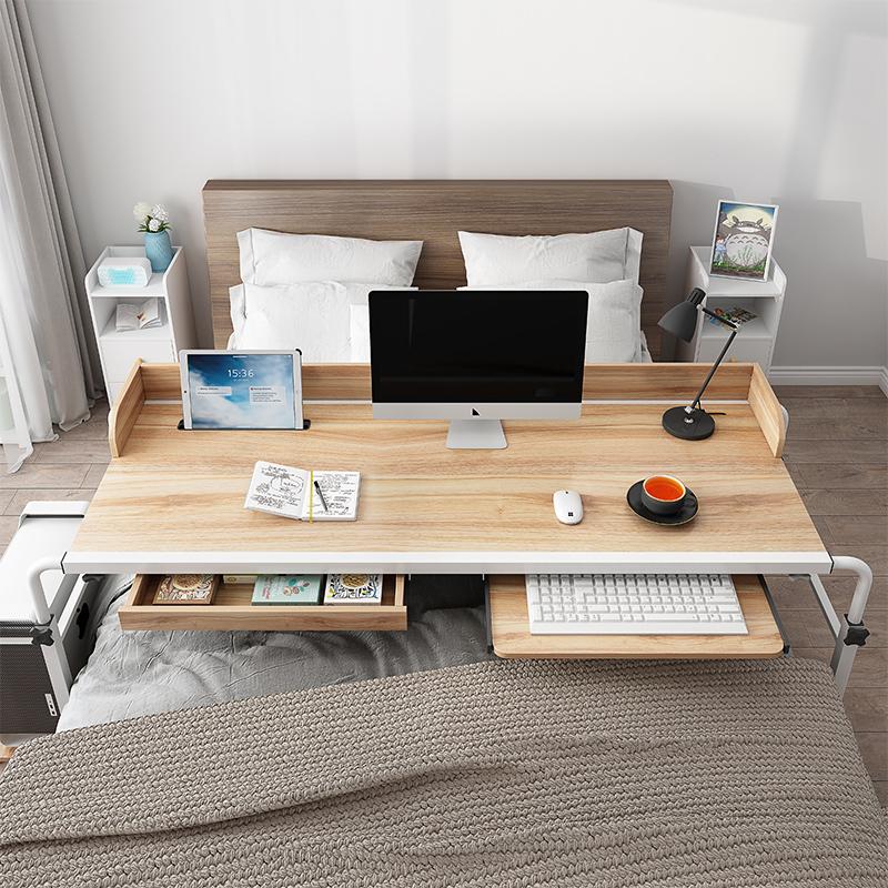 床上笔记本电脑桌台式家用升降电脑桌床上懒人书桌可移动跨床桌