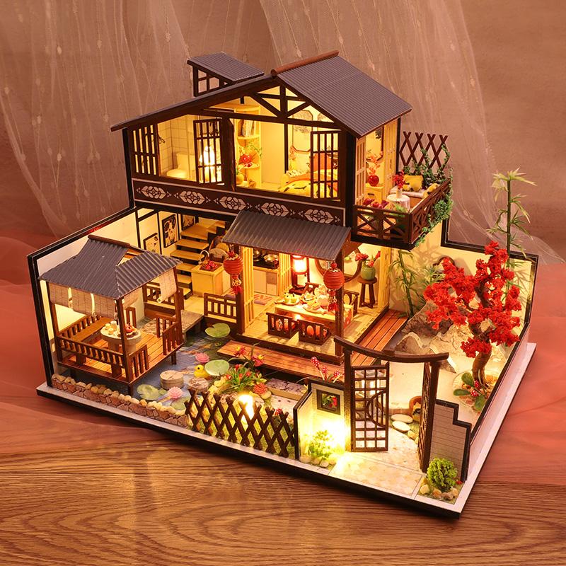 手工木质音乐盒八音盒diy模型创意生日圣诞节礼物结婚送女生闺蜜