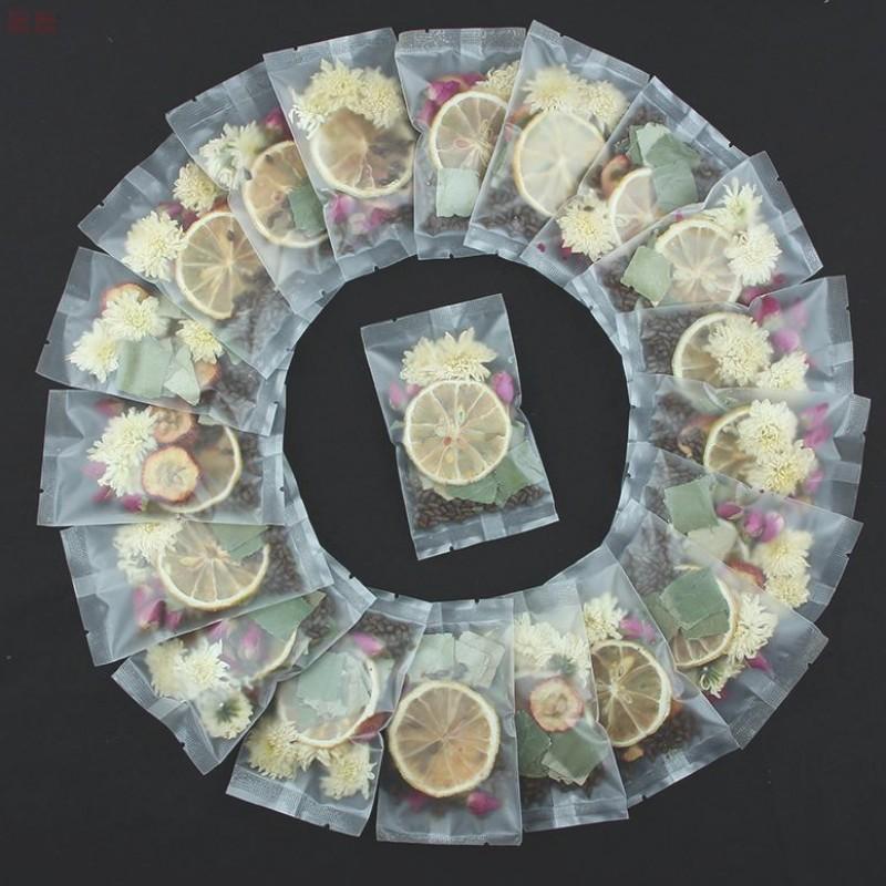 推荐柠檬荷叶茶 玫瑰花茶山楂决明子菊花肚子茶袋装天然组合花茶