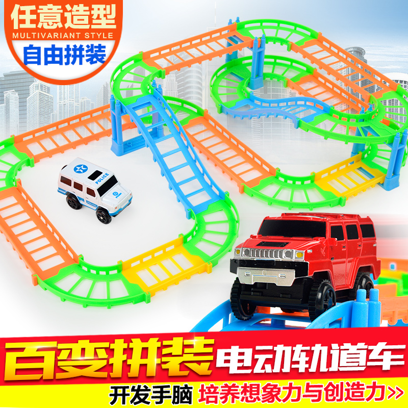 Children thomas train set electric car racer boy car for Motorized cars for 6 year olds