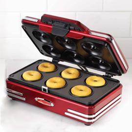 美国Nostalgia甜甜圈机家用 迷你松饼机 双面加热电饼铛 可丽饼机