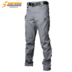 Outdoor stretch multi-pocket training overalls IX9 tactical pants male army fan special forces Slim battlefield clothing