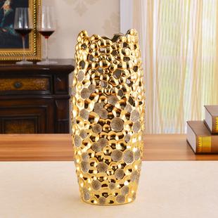 欧式创意花瓶摆件 干花插陶瓷工艺家居装饰品客厅电视柜花艺现代