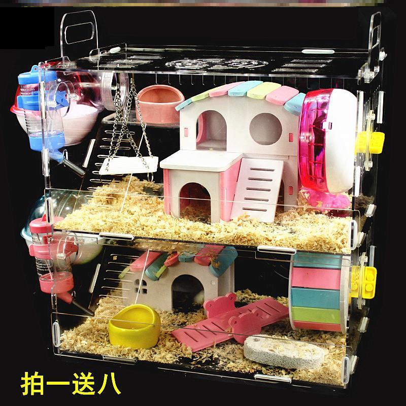 小仓鼠笼子别墅用品套装齐全小窝金丝熊超大47基础笼豪华套餐全套