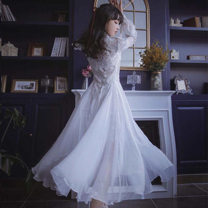 18岁成年礼女生礼服女仙气学生成人礼白色生日裙子公主裙大人超仙