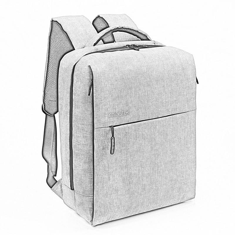 Mingtek背包男双肩包休闲简约商务时尚潮流女情侣电脑包定制书包