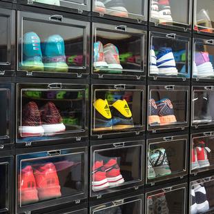 纳美嘉鞋盒储物展示防氧化塑料球鞋收藏直立收纳高帮球鞋AJ