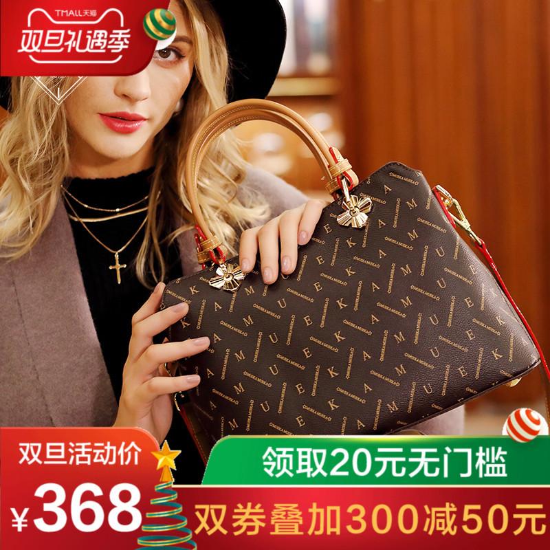Mueka女士包包2018新款欧美品牌女包手拎中年妈妈简约大气手提包