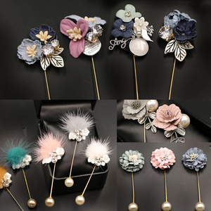 Brooch Women's Day Korea Fashion Sweater Pin Imitation Pearl Simulation Flower Corsage Pin Pin H0101